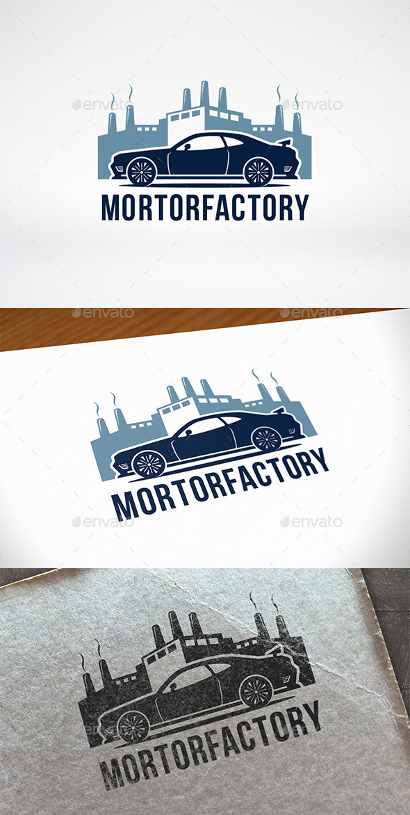 GraphicRiver Car Factory Logo Template 11109279