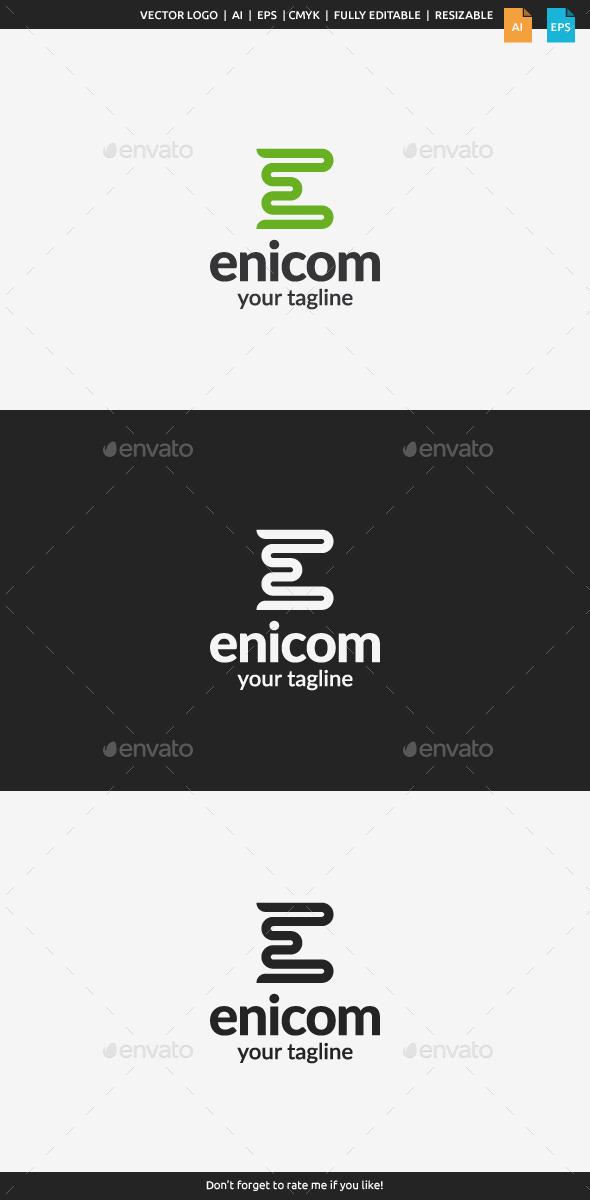 GraphicRiver Enicom Letter E 11109399
