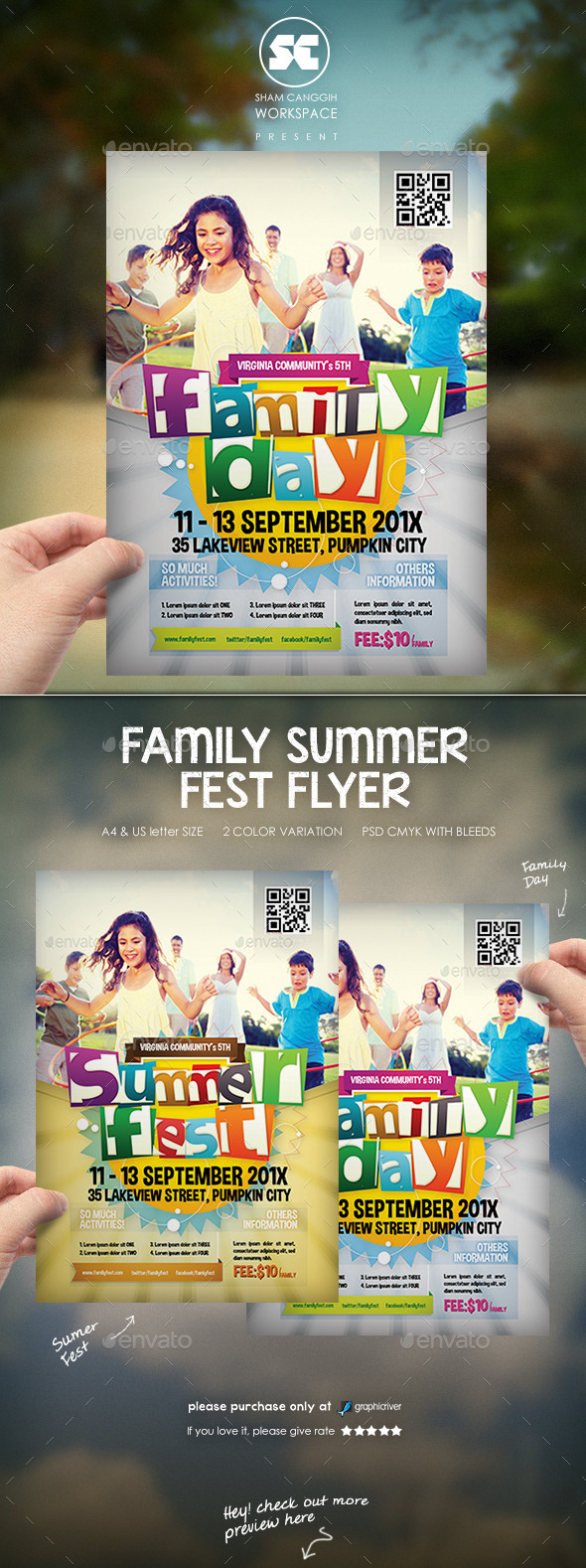 GraphicRiver Family Summer Fest Flyer 11109402
