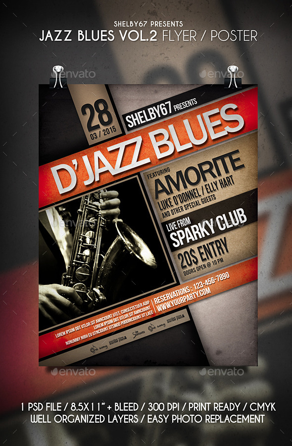GraphicRiver Jazz Blues Flyer Poster Vol.2 11109407