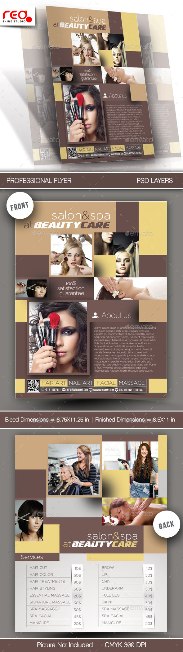 GraphicRiver Beauty Care Flyer & Poster Template 11109476