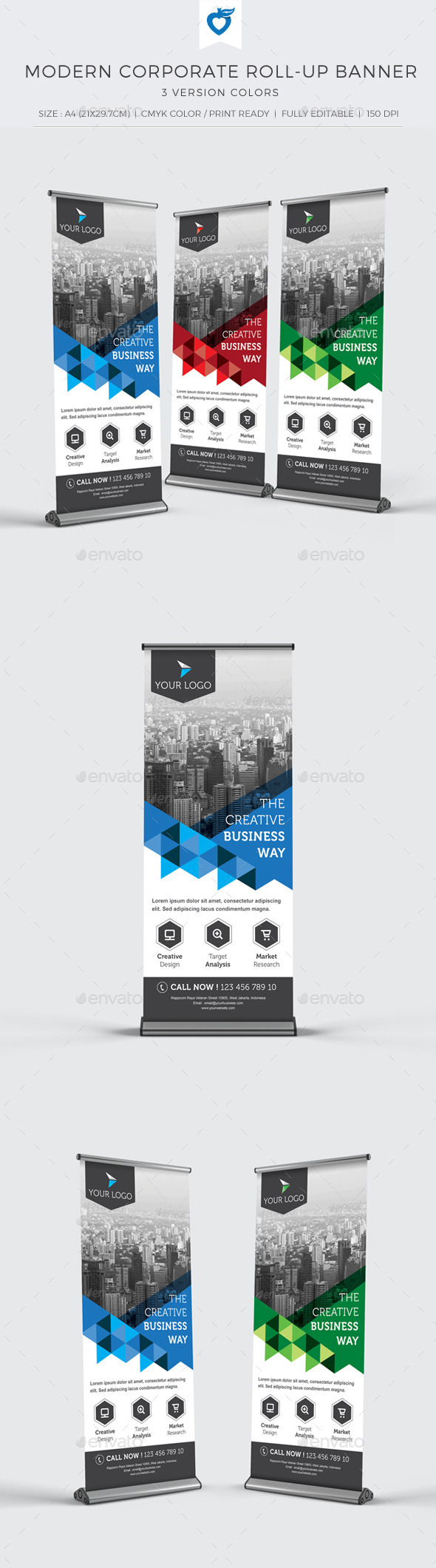 GraphicRiver Modern Corporate Roll-up Banner 11109517