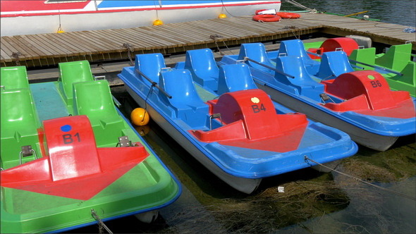 Some Colorful Water Bicycle for Tourists of the Ol