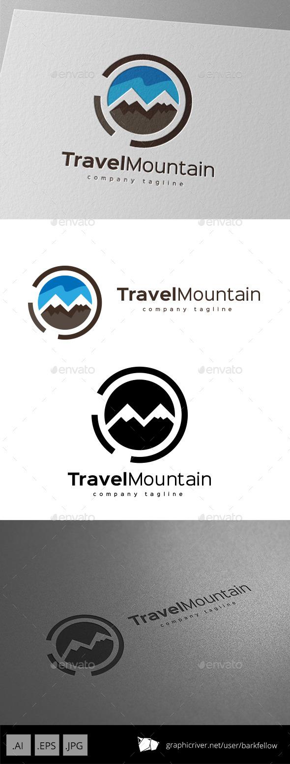 Travel Mountain Logo Design
