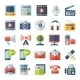 Media and Communication Flat Icons - GraphicRiver Item for Sale