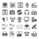 Media and Communication Icons Set - GraphicRiver Item for Sale