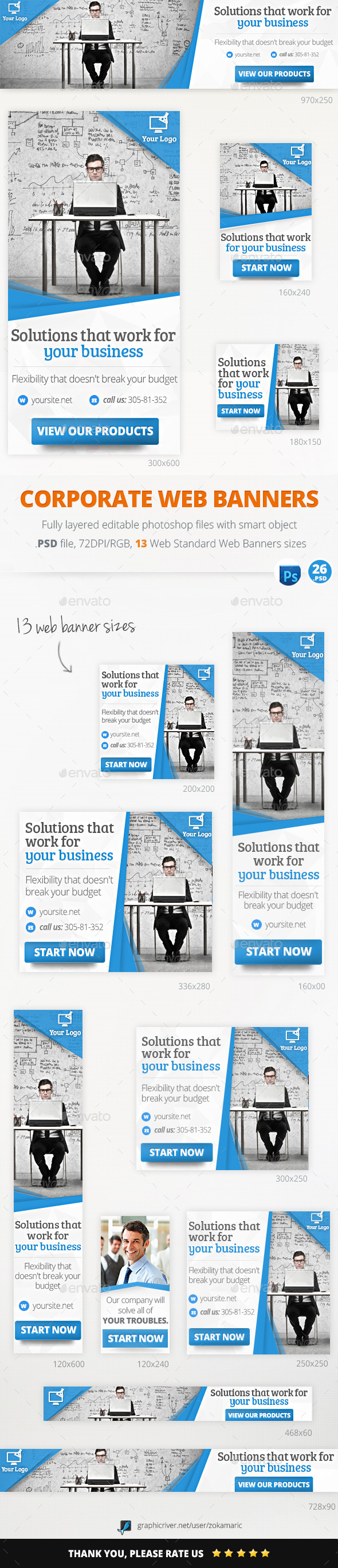 GraphicRiver Marketing Corporate Web Banners 11109688