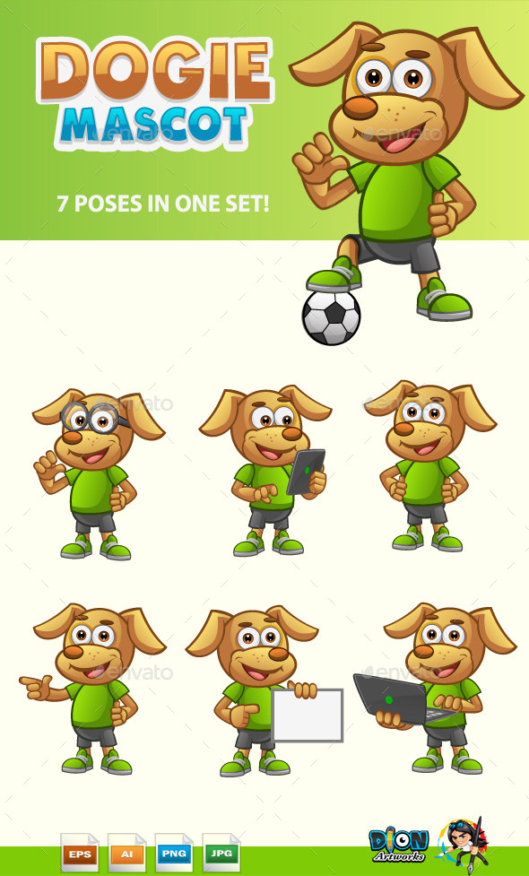 GraphicRiver Dog Mascot 11109689