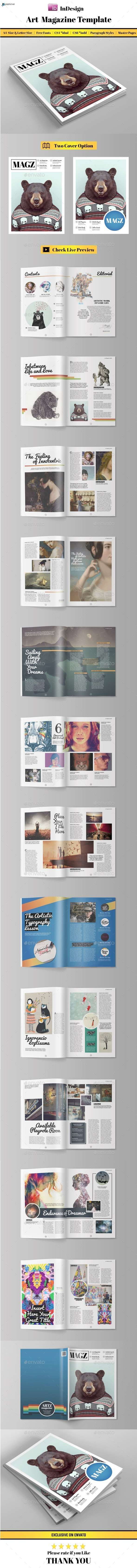 GraphicRiver Art Magazine Template 11109722