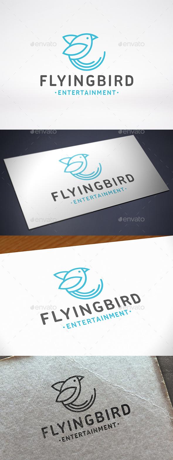 GraphicRiver Bird Line Logo Template 11109780