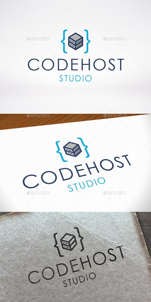 GraphicRiver Code Host Logo Template 11109816