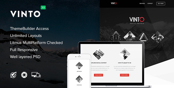 Vinto - Responsive Email + Themebuilder Access - Newsletters Email Templates