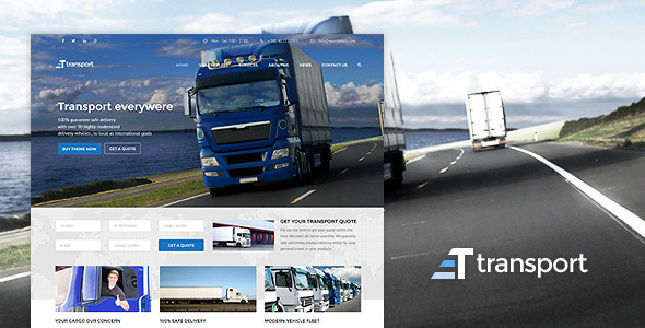 ThemeForest Transport WP Transportation & Logistic Theme 11023307
