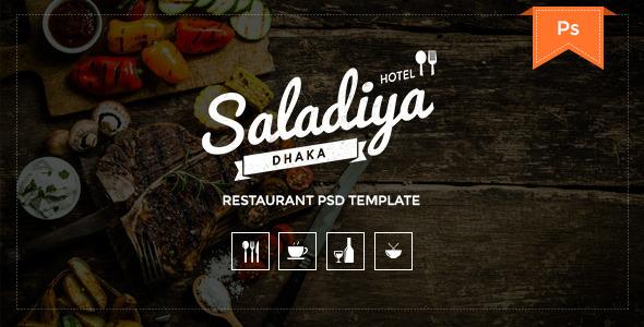 ThemeForest Saladiya Restaurant PSD Template 11063355