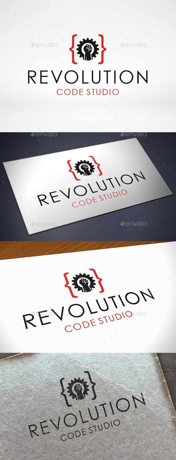 GraphicRiver Code Revolution Logo Template 11110162