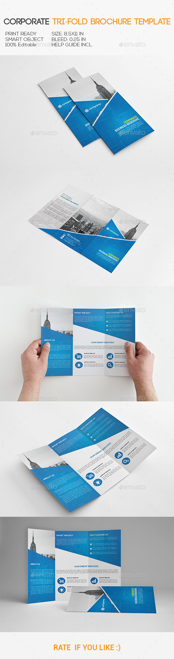 GraphicRiver Corporate Tri-Fold Brochure 11110177