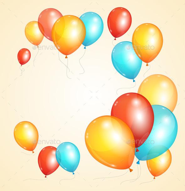GraphicRiver Balloon Card 11110249