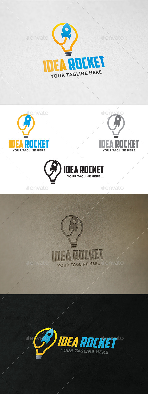 GraphicRiver Idea Rocket Logo Template 11091349