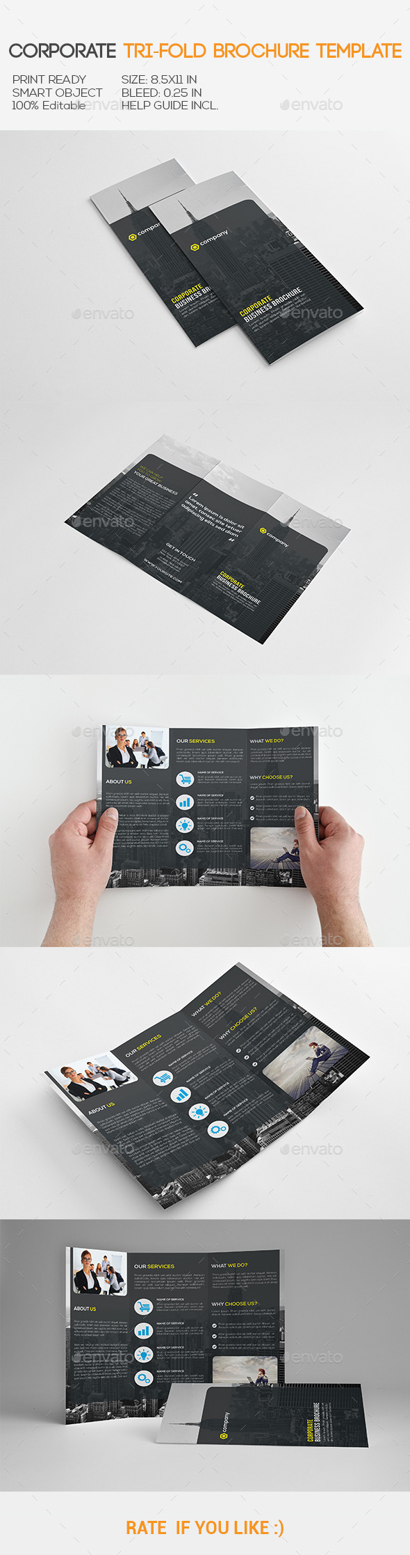 GraphicRiver Corporate Tri-Fold Brochure 11110452