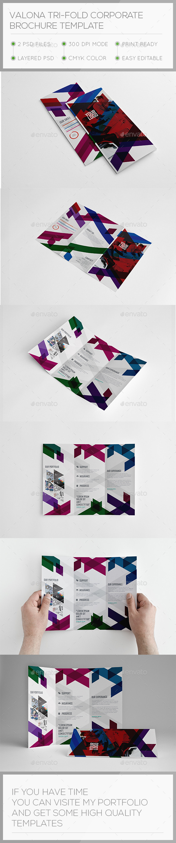 GraphicRiver Valona Corporate Trifold Brochure Template 11110493