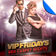 VIP Fridays Red Carpet Nights Flyer Template - GraphicRiver Item for Sale