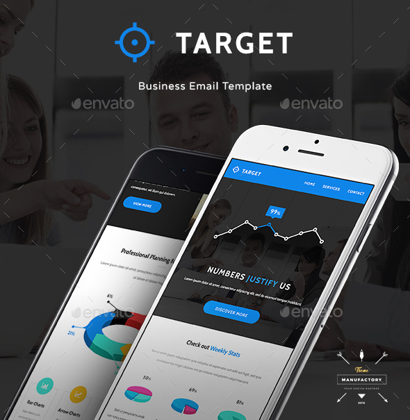 GraphicRiver Target Business and Infographic Email Template 11110580