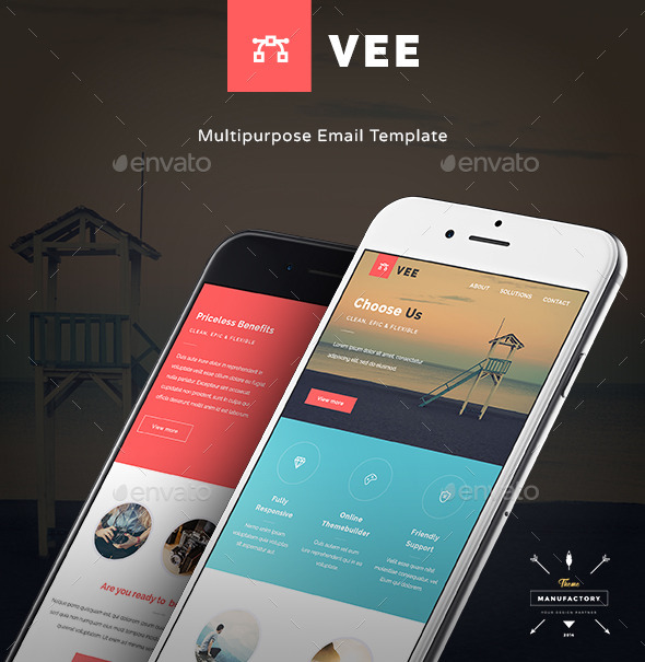 GraphicRiver Vee Multipurpose E-newsletter Template 11110612