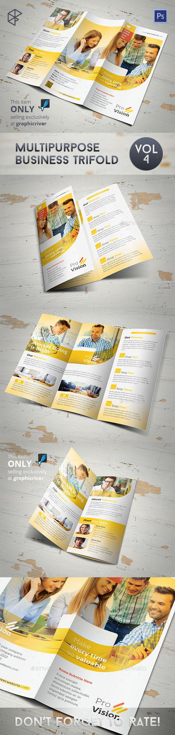 GraphicRiver Multipurpose Business Trifold Vol 4 11110726