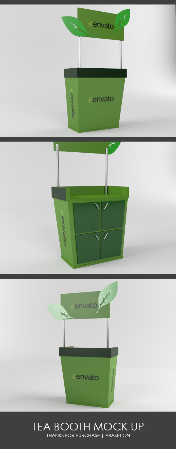 3DOcean Tea Booth Mock Up 11110758