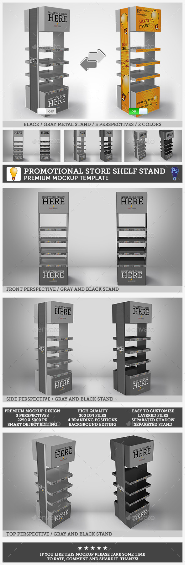 GraphicRiver Promotional Store Shelf Stand 11110807