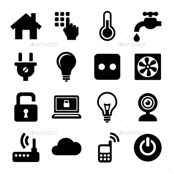 GraphicRiver Smart Home Management Icons Set Vector 11110822