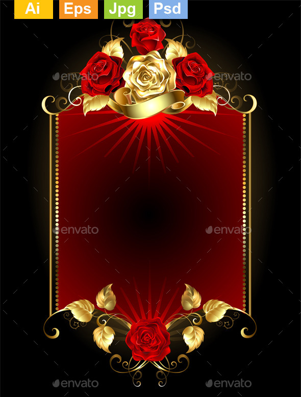 GraphicRiver Design with Roses 11110913