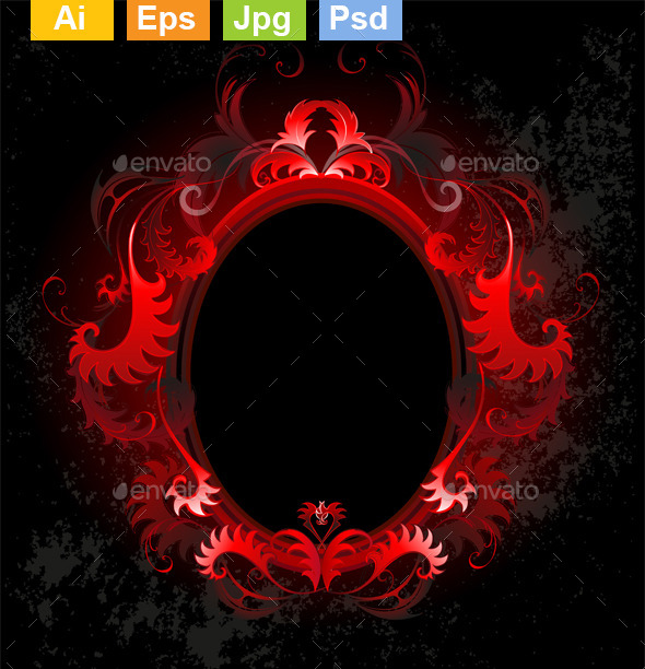 GraphicRiver Oval Red Banner 11111027