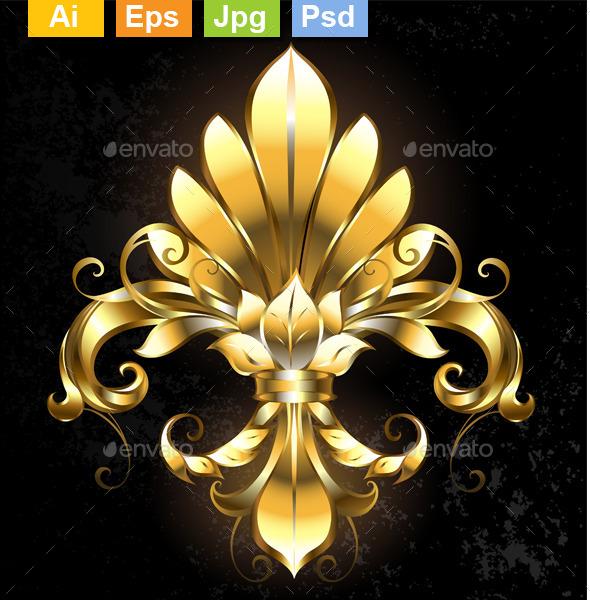 GraphicRiver Golden Fleur De Lis 11111098