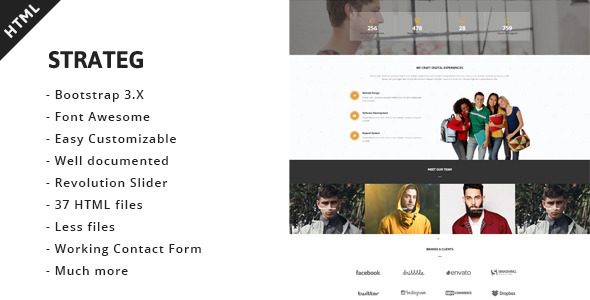 ThemeForest Strateg Multipurpose HTML5 Template 11052309