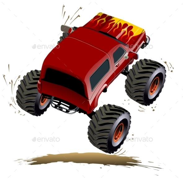 GraphicRiver Cartoon Monster Truck 11111568