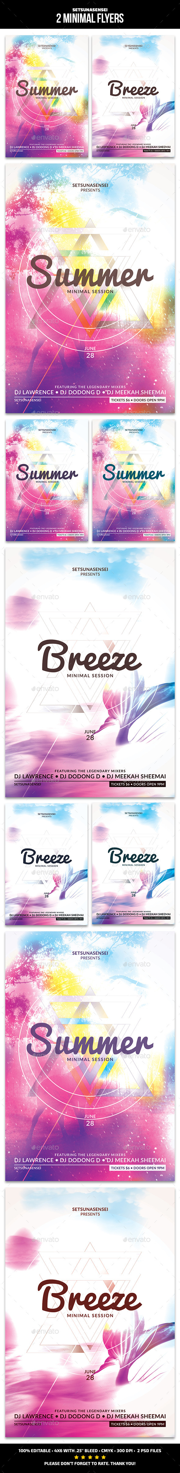 GraphicRiver 2 Minimal Flyers 11111865