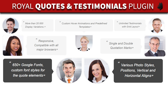 CodeCanyon Royal Quotes WordPress Layers Testimonials Grid 11111979