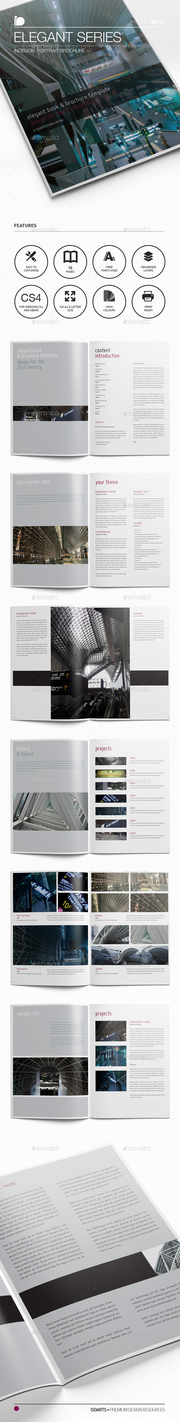 Portrait Brochure • Elegant Series - Corporate Brochures