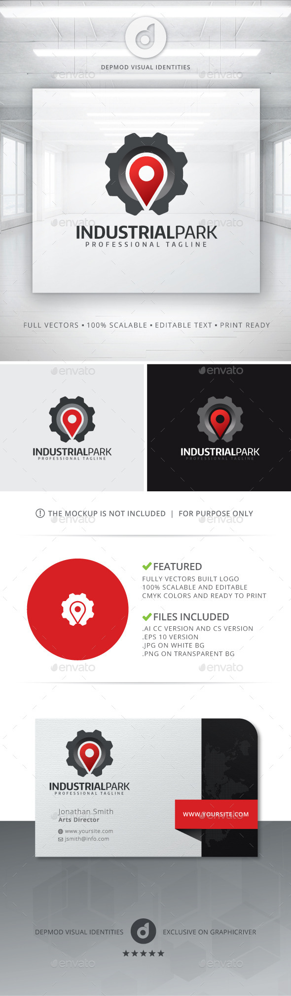 GraphicRiver Industrial Park Logo 11112398