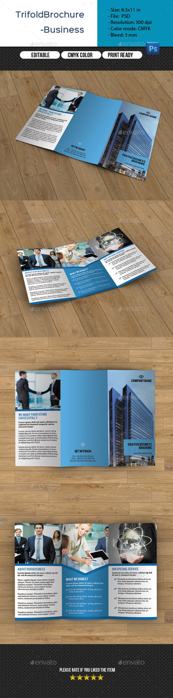 GraphicRiver Corporate Trifold Brochure-V233 11112439