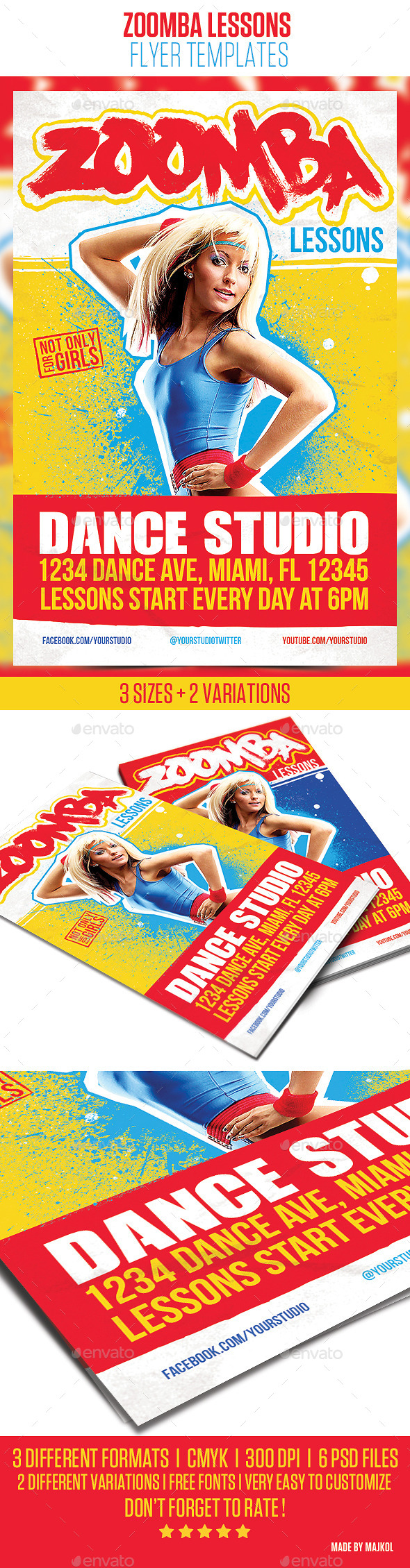 GraphicRiver Zoomba Lessons Flyer Template 11112759