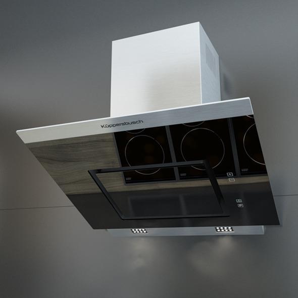 3DOcean Kuppersbusch KD 7610 Black Kitchen Hood 11112786