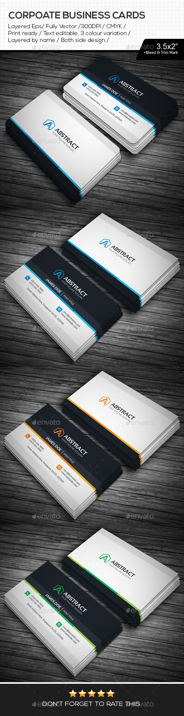 GraphicRiver Abstract Corporate Business Cards 11112901