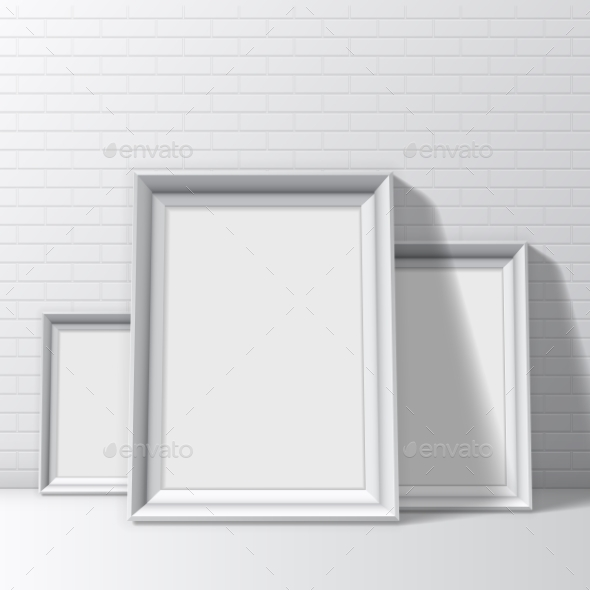 GraphicRiver Blank White Pictures Frames 11113448