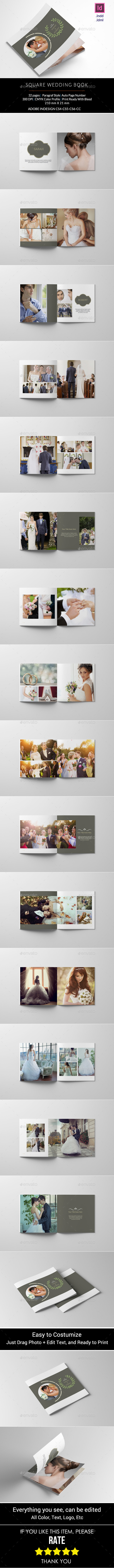GraphicRiver Square Wedding Photo Book 11113675