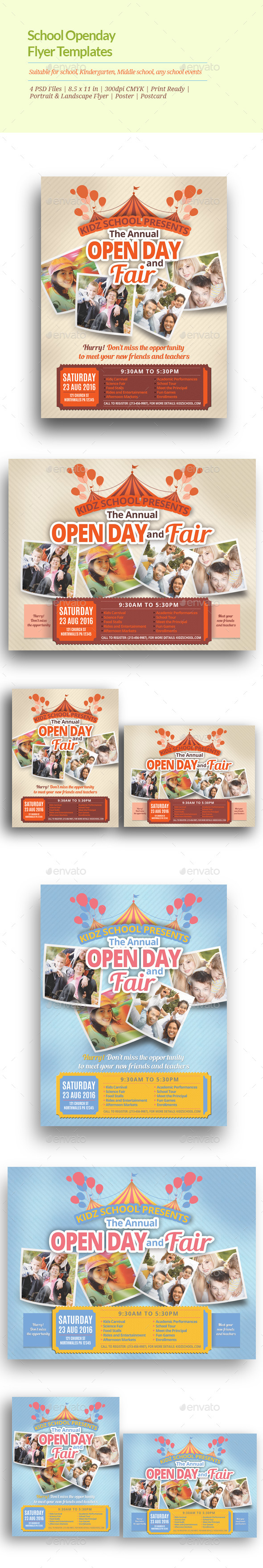 GraphicRiver School Open Day Flyer Templates 11063174
