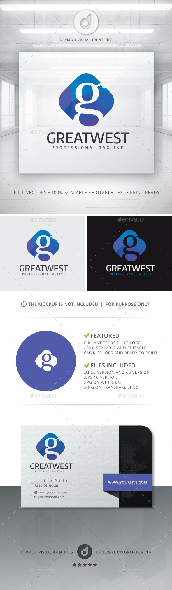 GraphicRiver Great West Logo 11113953