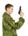 Military Man With Gun - PhotoDune Item for Sale