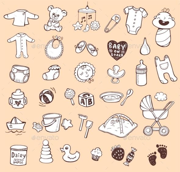GraphicRiver Infant Icon Set 11114491